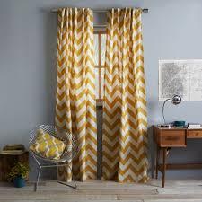 Of Michigan Curtains Curtains Cotton Canvas Zigzag Curtain Maize Michigan