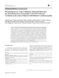 phosphodiesterase type 5 inhibitor sildenafil decreases the