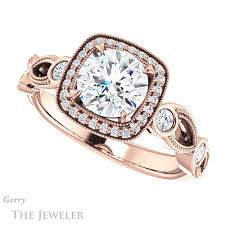 halo engagement ring settings vintage halo engagement ring setting gtj1201 r gerry the