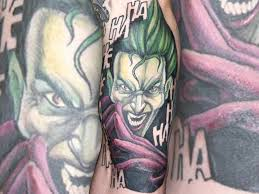 nine lives tattoo classic batman the joker tattoo