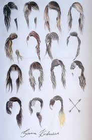 sketches of hair hair sketches fashion design images