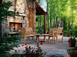 Ideas For Backyard Patios 20 Cozy Outdoor Fireplaces Hgtv