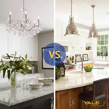Kitchen Chandelier Lighting Pendants Vs Chandeliers A Kitchen Island Reviewsratings