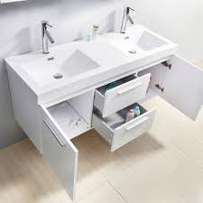bathroom 54 inch vanity contemporary with baseboards for
