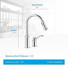 moen 7590 aberdeen single handle pull down sprayer kitchen moen 7590c aberdeen one handle high arc pulldown kitchen faucet
