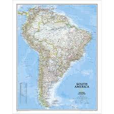 south america map atlas south america classic wall map national geographic store