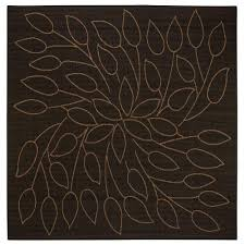 Home Decorators Outdoor Rugs Home Decorators Collection Persimmon Black 7 Ft 6 In Square Area