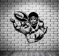 popular wall mural artists buy cheap wall mural artists lots from football wide receiver wall stickers quarterback super bowl wall mural vinyl art decal artistic design wall