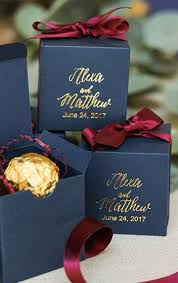 favors for wedding personalized square favor box favors wedding and