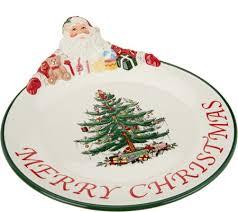 spode tree 12 santa platter page 1 qvc