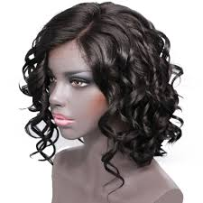 short curly bob wig hair marvel short curly bob synthetic deep wave wig side part natural