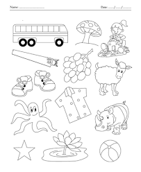 color the picture which end with letter s printable coloring worksheet