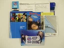 padi open water student materials dive machine