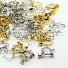 clip on earring converter wholesale brass clip earring converter for non pierced ears