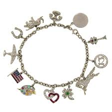 bracelet charms tiffany images 1920s tiffany and co art deco gems and platinum charm bracelet at jpeg