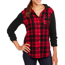 plaid shirt halloween costumes no boundaries juniors u0027 plaid flannel jacket with hoodie walmart com