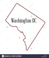 State Of Washington Map by Outline Map Of The State Of Washington Dc Over A White Background