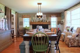 farmhouse dining room ideas dining room farmhouse with wood mantel