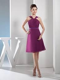 empire linie tragerlos knielang tull brautjungfernkleid mit drapiert p662 lila kleider für anlässe