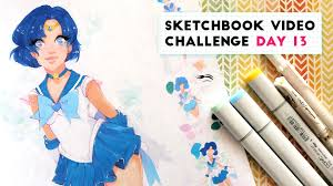 how to motivate yourself to draw sketchbook video challenge day