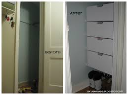 ana white entryway closet drawers done diy projects