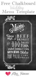 wedding bar menu template chalkboard wedding menu free template menu templates