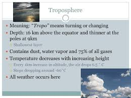 layers of the atmosphere how are they broken up temperature make