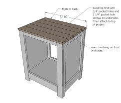 ana white kentwood nightstands or end tables diy projects