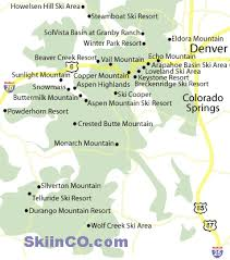 map of colorado ski resorts ski in co top 25 colorado ski resorts mountains and ski areas