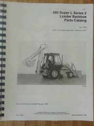 case 580 super l series 2 ii loader backhoe parts manual book