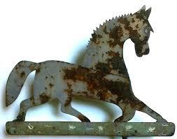 Bull Weathervane Dull Tool Dim Bulb Antique Folk Art Primitive Black Hawk Weathervane