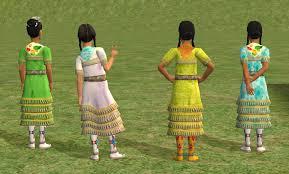 mod the sims the u0027jingle u0027 or u0027medicine u0027 dress multicultural