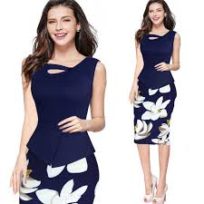 women polyester flowers dress bodycon dress ladies clothing summer
