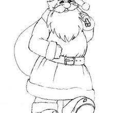 picture santa coloring pages hellokids