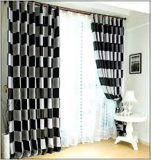 Black Check Curtains Black And White Plaid Curtains Sgmun Club