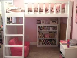Teen Bookcase Furniture Loft Bed With Storage Unit And Ladder Also Desk For