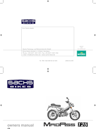 sachs madass 125 owners manual tire motor oil
