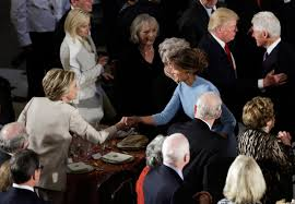 inaugural luncheon head table trump inauguration capitol hill remains friendly time
