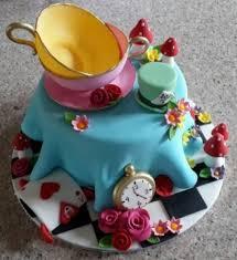 mad hatter u0027s tea party cake cakecentral com