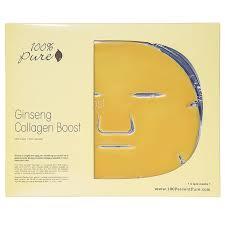 Collagen Mask 100 ginseng collagen boost mask nourished australia