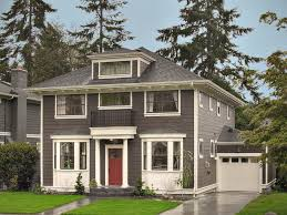 seattle behr paint colors brown exterior traditional with red