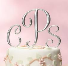 cake topper monogram cake topper all about wedding