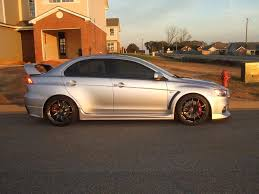 silver mitsubishi lancer black rims pics of silver x with aftermarket wheels wanted mitsubishi