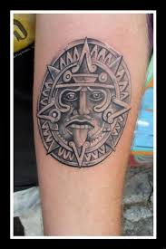 Aztec Sun Tatoo Awesome Aztec Sun Picture Tattooed Images
