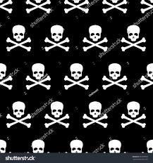 skull wrapping paper seamless pattern skull bones jolly roger stock vector 692370070