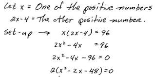 openalgebra com applications involving quadratic equations