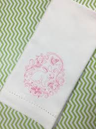 easter napkins easter napkins white tulip embroidery