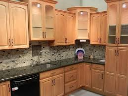 Maple Cabinet Kitchen Backsplash Ideas For Black Granite Countertops And Maple Cabinets