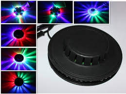 stage lighting mounting bars 8w 110v 220v rgb auto color changing rotating 48 leds ufo sunflower