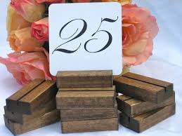 diy table number holders rustic wedding wood table number holders set diy wedding 31366